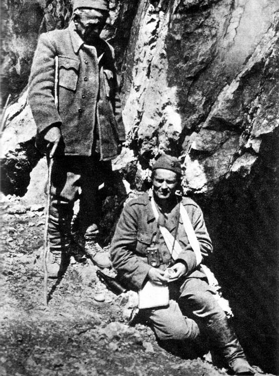 Ranjeni Tito i Ivan Ribar 1943.